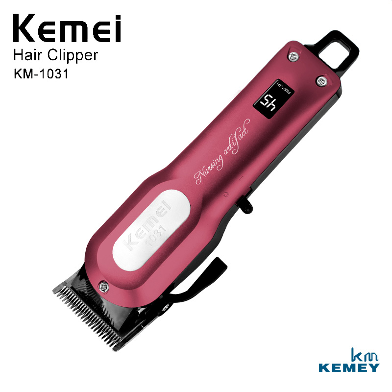Kemei Professional Rechargeable Cordless Electric Hair Clipper Trimmer Powerful Shaving Machine Hair Cutting Machine KM-1031