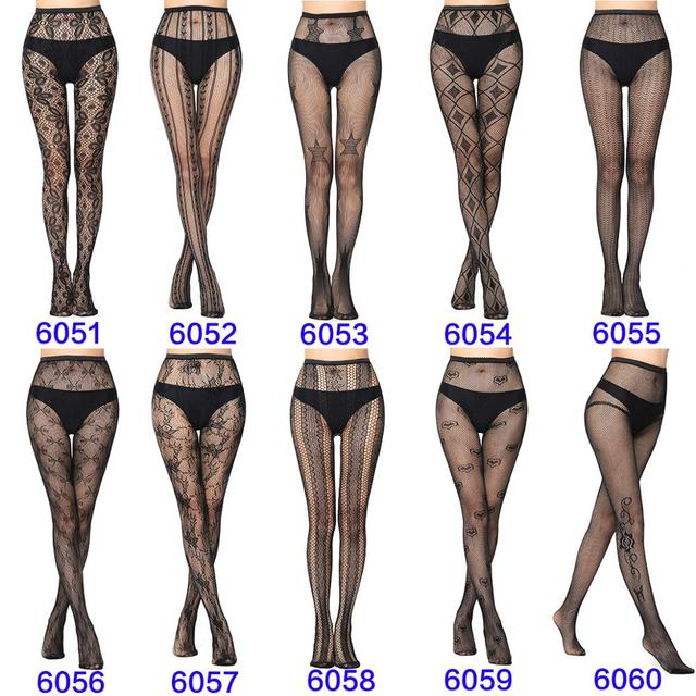 Sexy Fashion Ultrathin Women Pantyhose Hollow Solid Fishnet Tights Clothes For Women Black Tights Lace Sexy Lingerie 1