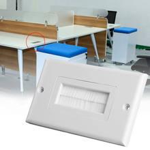 1 banda cepillo de cerdas de placa de pared puerto insertar cubierta de la salida 120 de montaje en Panel