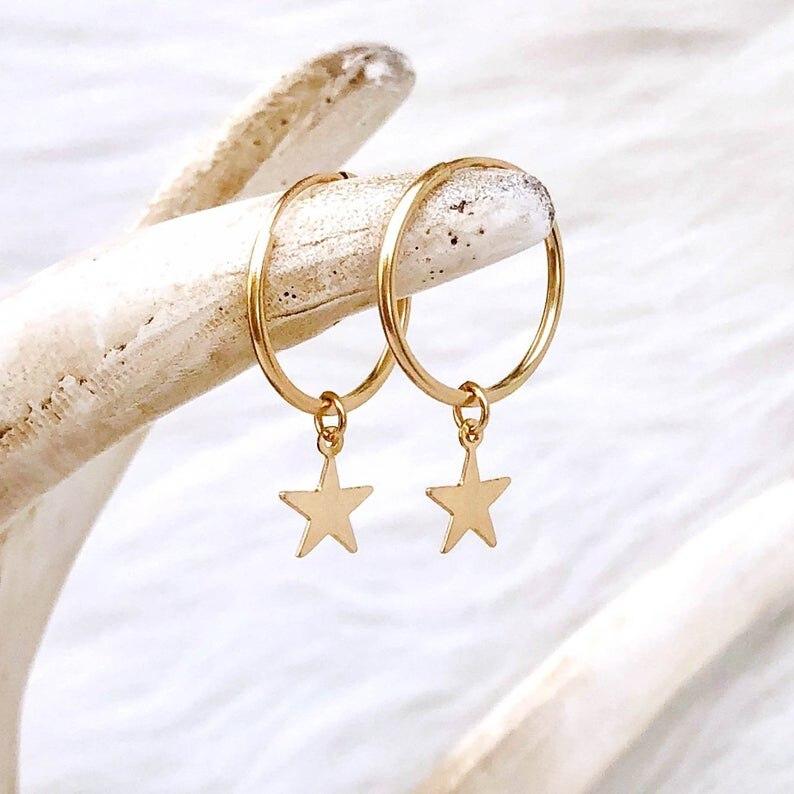 Женские серьги-кольца из нержавеющей стали