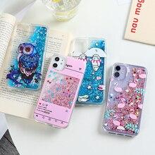Płynne dynamiczne etui Quicksand do Huawei P Smart 2021 etui luksusowe Glitter Phone Funda Huawei P Smart 2019 Z PSmart Cover Coque