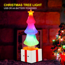 лучшая цена 2020 Christmas Tree LED Light RGB Flash Bulb With Crystal Salt For New Year Home Party Indoor Decoration USB / Battery Powered