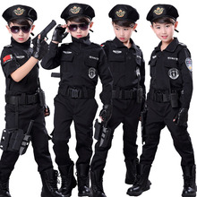 Halloween Policeman Cosplay Costumes for Boys Kids Girls Spe