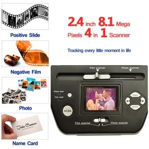 Image 2 - 디지털 사진 필름 스캐너 2.4 인치 8.1 메가 픽셀 4 in 1 스캐너 변환 35mm 135 슬라이드 네거티브 스캐너 이름 카드 스캐너