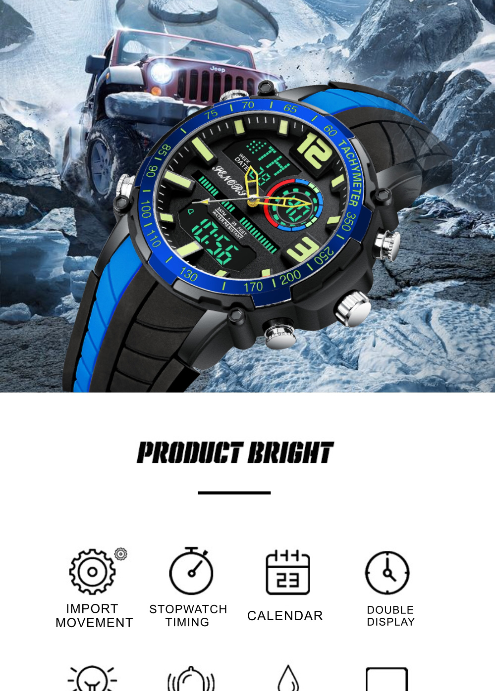 IsMyStore: Senors Sports Watch Men Famous LED Digital Watches Male Clocks Men's Watch Relojes Deportivos Herren Uhren Reloj Homme
