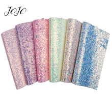 JOJO BOWS 22*30cm 1pc Chunky Glitter Fabric Solid Candy Paper Sheet DIY Hairbow Apparel Sewing Home Decoration Handmade Supplies цена