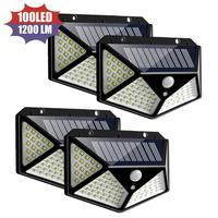 Wand-montiert Straße Licht 100 LED Solar Licht Outdoor Solar Lampe Powered Sonnenlicht 3 Modi PIR Motion Sensor Für gardenDecoration