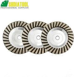 SHDIATOOL 1pc Dia 125mm na bazie aluminium szlifowanie garnkowe M14 lub 5/8-11 gwint 5 cal diamentowa tarcza szlifierska niższy poziom hałasu
