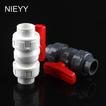 32mm PVC Ball Valve Shut Off Valve Water Valve Tool Shut Off Valve Caps Gate Valve Garden Water Connectors For Garden Irrigation 1 5 side check valve t shaped gate valve slide valve shut off valve for spa piping