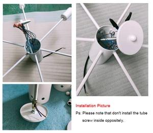 Image 5 - Retro Iron Chandelier Black/White 6/8/10 Sockets Lighting Vintage Spider Chandelier Modern Ceiling Lamp Light Fixture  Lighting