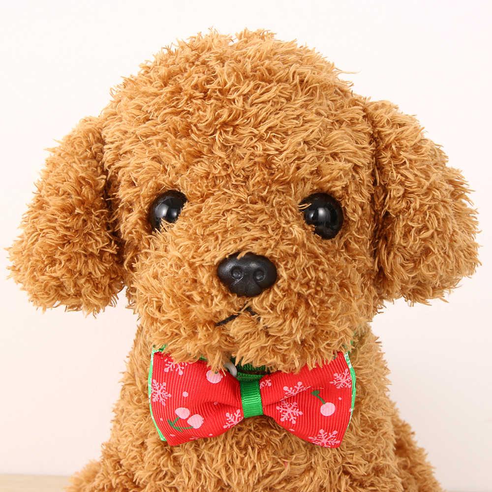 1PC クリスマスホリデーペット猫犬の首輪調整可能なネックストラップ猫犬のためのホームアクセサリーペット用品