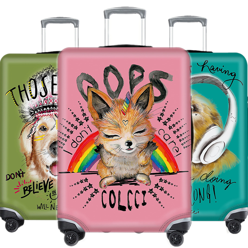 Kawaii Luggage Cover Protective Case Animal Elastic Waterproof Cover For Suitcase Cover Apply 18-32 Inch XL 3D Travel Accessorie