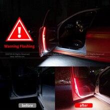 Uniwersalne drzwi samochodu taśmy oświetleniowe LED światła biały czerwony kolor witamy światło Strobe migające anty kolizji z tyłu bezpieczeństwa