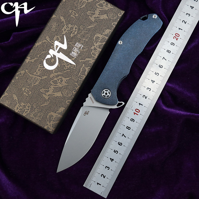 CH3504 original design Flipper folding knife S35VN Blade ball bearings TC4 Titanium handle camping fruit pocket