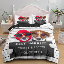 Bedding-Set Quilt-Covers Queen Kids Cute Pug for Adult Gift Pet-Dog Animal Just-Married
