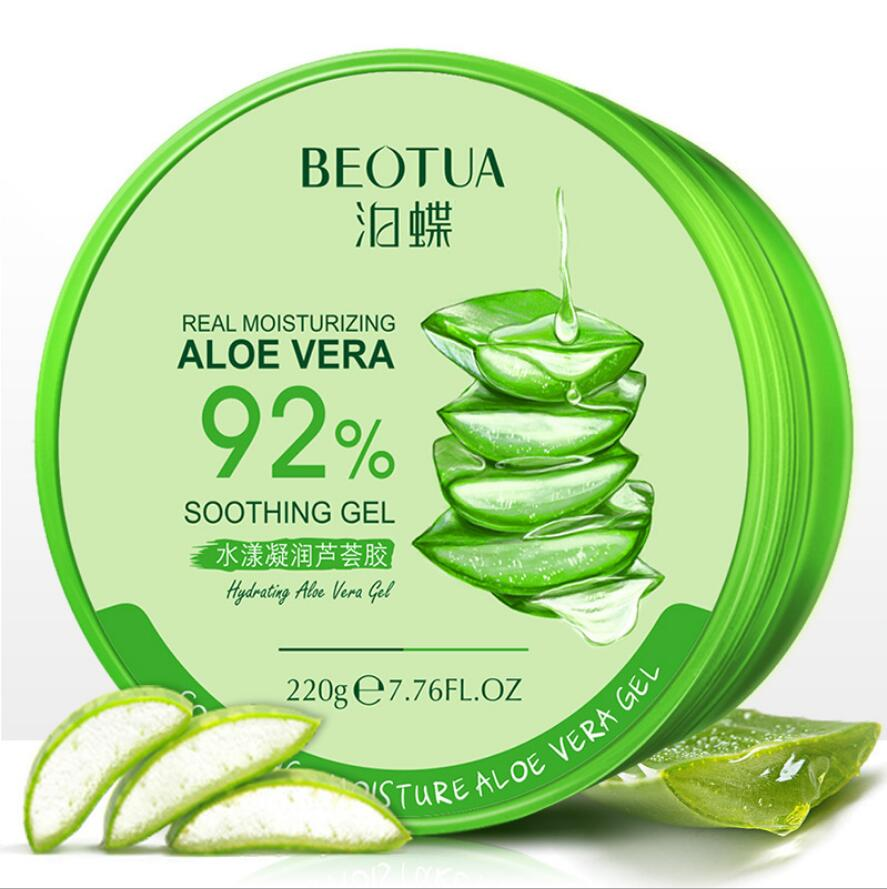 Hot 220g Whitening Natural Aloe Vera Smooth Gel Acne Treatment Face Anti-Aging Cream For Hydrating Moist Repair After Sun
