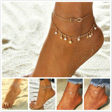 2019 New Arrivals More Layer Star Pendant Anklet Foot Chain 2019 New Summer Yoga Beach Leg Bracelet Charm Anklets Jewelry Gift(China)