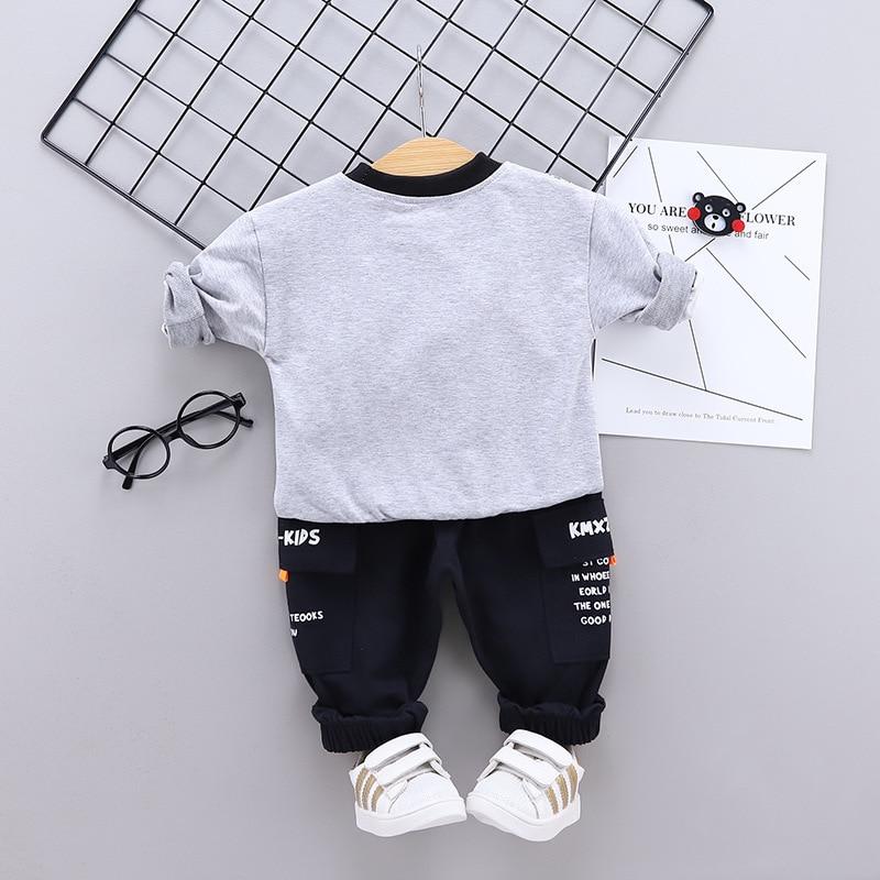 Spring Autumn Baby Boys Clothing Sets 2021 Cartoon Toddler Boys Girls Long Sleeve Shirt+Pants Suit Kids Tracksuit Clothes Set 3