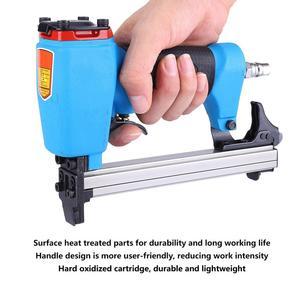 Image 5 - W kształcie litery U typ pneumatyczne powietrze zszywacz 13mm gwoździarka w porządku narzędzie meble niebieski gwoździarka do obróbki drewna pneumatyczne powietrze mocy pistolet Riveter