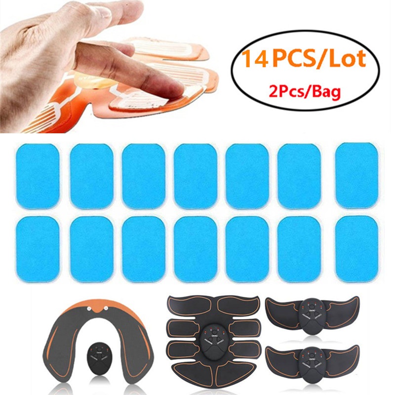 14PCS ABS Stimulator Training Replacement Gel Sheet Pads For Abdominal Muscle Trainer Massager Accessories Hydrogel Pads Sticker
