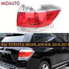 Rear Tail Light Tail lights For TOYOTA HIGHLANDER 2010 2011 2012 2013 Left/Right Car Accessories Stop Brake Lamp turn signal new for vw polo 2010 2011 2012 2013 right side led tail light rear light 6r0945096