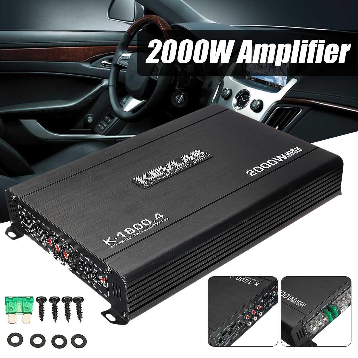 2000 Watt Car Audio Power Amplifier 4 Channel 12V Car Amplifer Car Audio Amplifier For Cars Amplifier Subwoofer