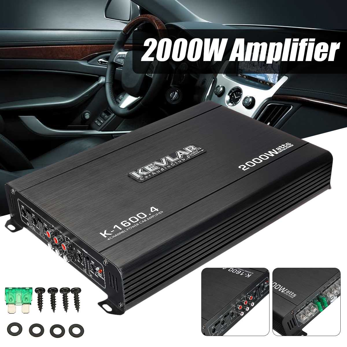 2000W 4 Channel Car Amplifier Speaker Vehicle Amplifier Power Stereo Amp Auto Audio Power Amplifier Car Audio Amplifier