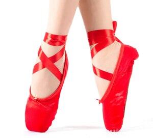 Image 2 - 2019 ร้อนเด็กและผู้ใหญ่บัลเล่ต์Pointe Danceรองเท้าสุภาพสตรีProfessionalบัลเล่ต์รองเท้าเต้นรำริบบิ้นรองเท้าผู้หญิงจัดส่งฟรี