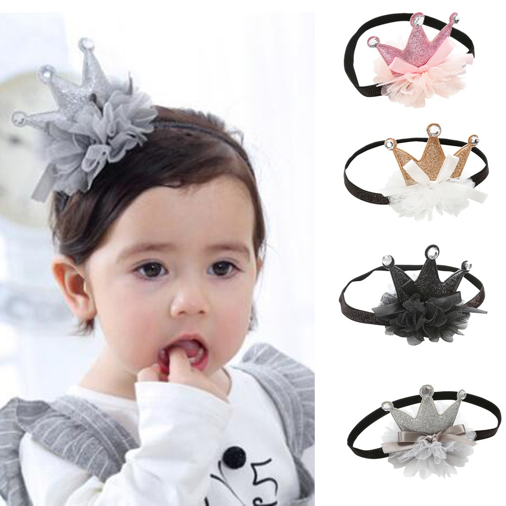 Beauty Cute Sweet Kids Girl Baby Bows Headband Bring Crown Hair Band Baby Hair Accessories Bandeau Bebe Fille HOOLER