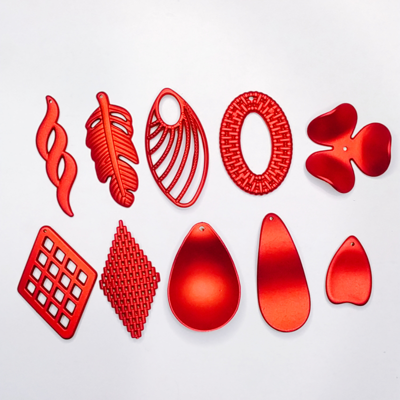 Acrylic Resin Plastic Red Frosted Eardrop Pendant Earring Accessories Supplies For Jewelry Making Components Diy Handmade 8pcs