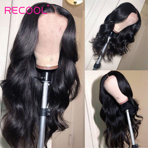 Image 2 - Recool HD Lace Frontal Wig 30 Inch Body Wave Lace Front Human Hair Wigs 13x6 Lace Front Wig 250 Density Hd Transparent Lace
