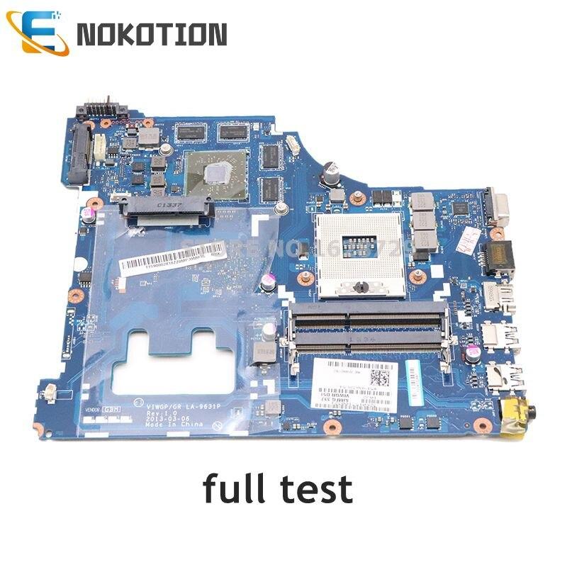 NOKOTION Laptop Motherboard For Lenovo IdeaPad G500 15.6 Inch VIWGP GR LA-9631P HM76 DDR3HD 8750M 2G Support I3 I5 I7