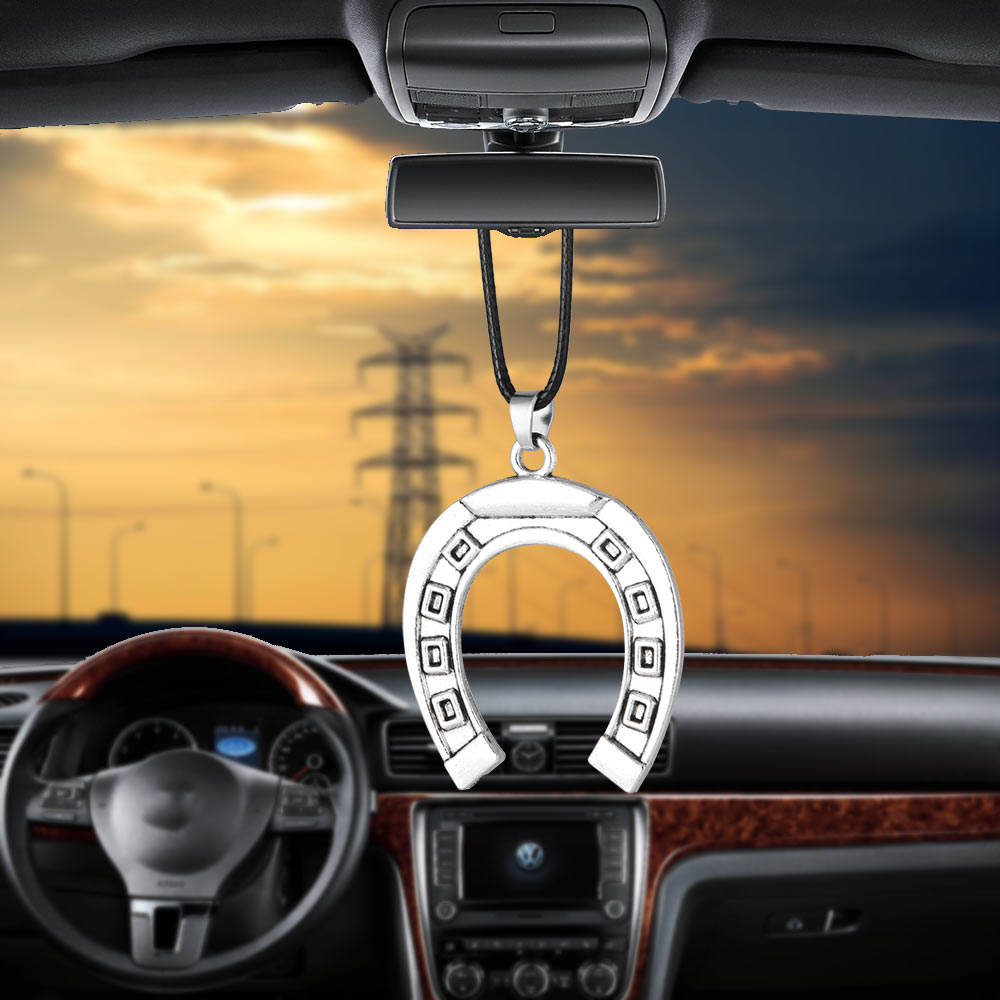 Car Pendant Russia Lucky Horseshoe Magnet Home Rearview Mirror Decoration Hanging Ornaments Charms Auto Decor Cars Accessories