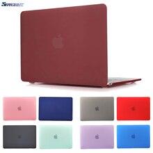 Кристальный матовый чехол для ноутбука MacBook Air 13 Pro 15 retina 11 12 дюймов с сенсорной панелью матовый чехол A1706 A1707 A1990 A1932 A2159