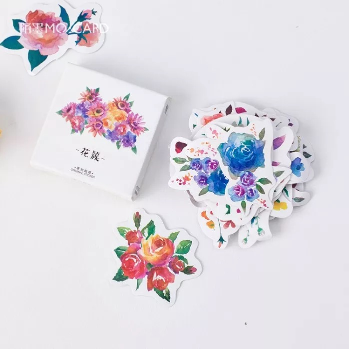 Creative Flowers Decorative Diy Diary Stickers Kawaii Planner Scrapbooking Sticky Stationery Escolar School Supplies