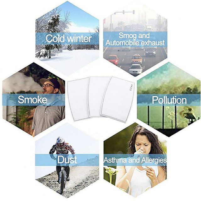 Activated Carbon Filter Face Mask Breathing Insert Protective Mouth Mask Filter 5