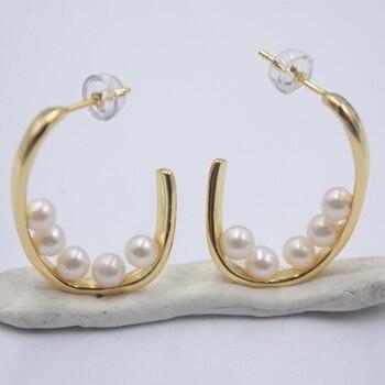 Real Sterling S925 Silver Earrings Drop Natural Freshwater Pearl Raindrop For Women Ladies Girl Earrings Beauty Gift 27mmL