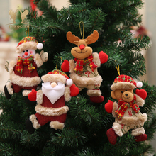 Christmas Tree Hanging Decoration Xmas Ornaments Gift Lovely Santa Claus Snowman Reindeer Toy Doll Festive Hang Decorations