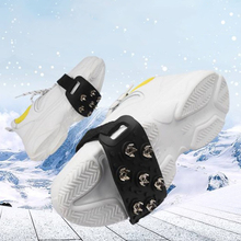 Унисекс, зимняя обувь с 7 зубьями, шипы, сплав, анти-лед, обувь для зимнего туризма, противоскользящая, новинка, силиконовая обувь, шипы, ледяные заносы