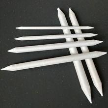 6 шт. Пастельная палочка для растушевки пенька тортильон эскиз искусство Белый Рисунок Ручка инструмент рисовая бумага