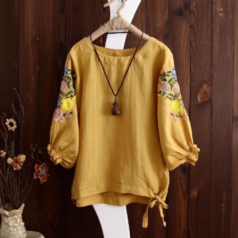 Floral Embroidery Tops 2