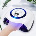УФ светодиодный УФ лампа для ногтей, УФ лампа для ногтей, гель для ногтей, осушающая лампа 4 режима с ИК-датчик ногтей сушилка 42 светодиодный s...