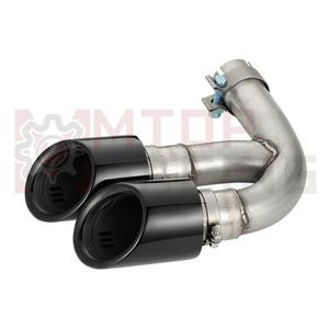 Image 5 - Exhaust Muffler Pipe For Porsche Cayenne 3.0T 2018 2019 Dual Tips Gloss Black