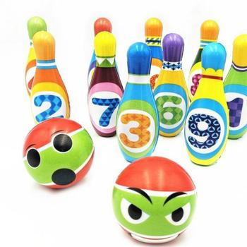 1Set Funny Baby Outdoor Toys Kids Interaction Leisure Bowling Ball For Children Cartoon Toys Ball Beach Grassland Family Bauble