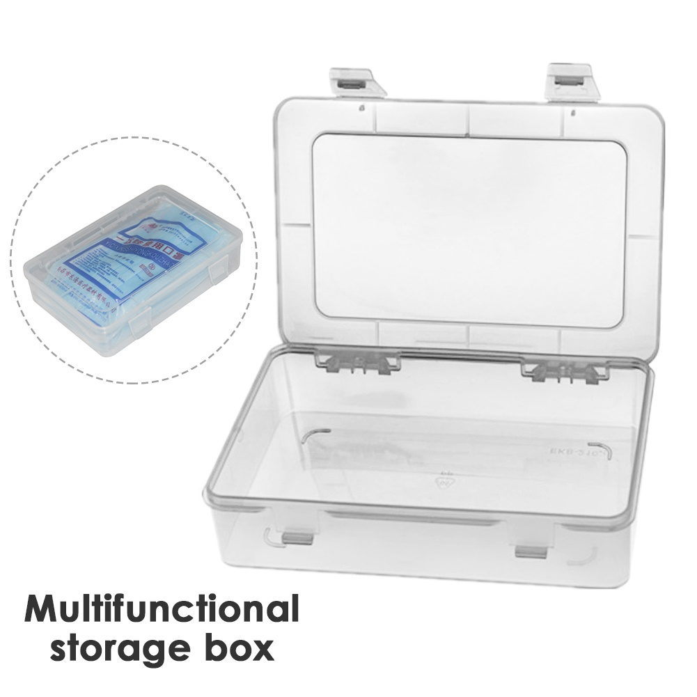 Mask Box Portable Dustproof Face Mask Storage Container Plastic Box Carry Case Organizer