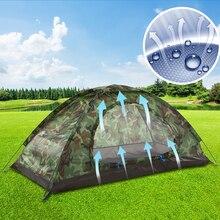 Tomshoo barraca de acampamento para caminhadas, para 1 2 pessoas, camada única, uso ao ar livre, portátil, camuflada, resistente à água, com transporte saco do saco