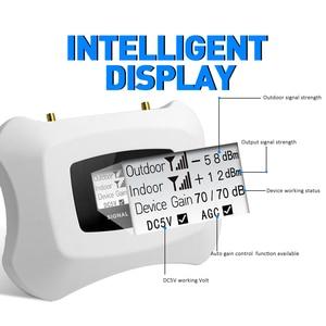 Image 3 - ホット!!3グラム信号リピータ3グラム2100モバイル信号ブースター3グラム携帯電話アンプ八木 + 天井アンテナキット家庭用