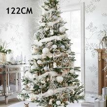 White Surround Non-Woven Ornament Home Xmas Christmas Tree Skirt Carpet Beautiful 90cm/122cm Party Decor