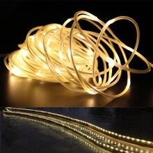 En uzun LED Sokak Çelenk IP68 Su Geçirmez Neon Burcu LED ışık Noel Partisi Dekorasyon Açık Tüp Halat ışık şerit LED