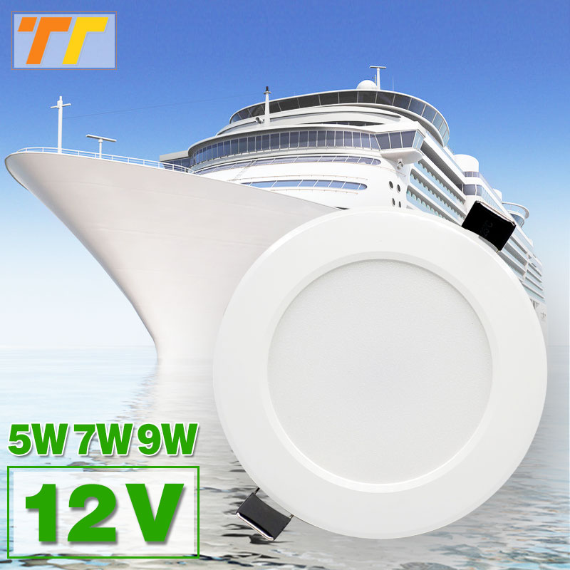 12V LED Spot Downlights Waterproof IP65 Lamp Ceiling Recessed 5W 7W 9W  Safety Voltage For Boat For Bathroom